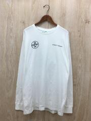 長袖Tシャツ/XXL/コットン/WHT/プリント/OMAB001T19185104