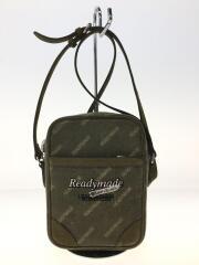 ショルダーバッグ/コットン/KHK/総柄/コットン/レザー/Logo Print Messenger Bag