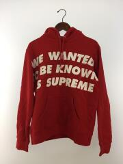 20SS/known as hooded sweatshirt/パーカー/S/コットン/レッド/無地