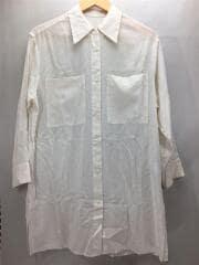 長袖シャツ/M/コットン/CRM/シアーポケットワイドシャツ/1611-162-2100/20ss/