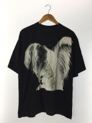 Tシャツ/S/コットン/BLK/フェザープリント/s29gc0212