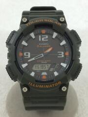 クォーツ腕時計/デジアナ/ラバー/KHK/ダイバース/AQ-S810W-8AJF