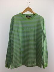 長袖Tシャツ/XL/コットン/GRN/ボーダー/19ss/01191103/ロゴ