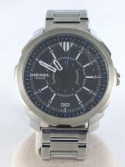 クォーツ腕時計/アナログ/ステンレス/BLK/SLV/DZ-1786/ケース付き
