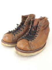 LACE TO TOE TABACCO BROWN/ブーツ/US7/ブラウン/レザー/ソール減り有