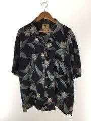 jamaica jaxx/90s/アロハシャツ/XL/シルク100/ネイビー/総柄