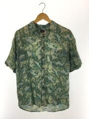 90S/100%レーヨンアロハシャツ/NAK/アロハシャツ/L/レーヨン/ブルー/総柄