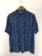 caribbean/90s/アロハシャツ/L/レーヨン/ブルー/総柄