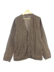 20SS/ROOT DYED STRIPED LINEN/0917072/カーディガン(薄手)/M/リネン