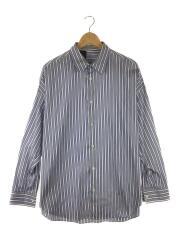 20SS/2201-SH07-005/ストライプドレスシャツ/長袖シャツ/38(L)/コットン/ブルー