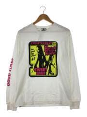 プリントロングカットソー/長袖Tシャツ/S/コットン/ホワイト/02173CL02