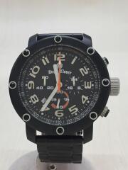 エイトスター/クロノグラフ/クォーツ腕時計/アナログ/ステンレス/ブラック/es46