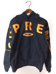 19AW/Spread Logo Hooded Sweatshirt/パーカー/M/コットン/ネイビー/総柄