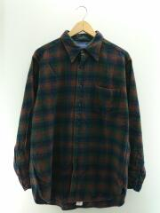 USA製/80s/ウールシャツ/長袖シャツ/L/ウール/マルチカラー/チェック