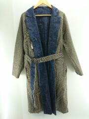 Gun-club Check×Denim Reversible Coat/16A37