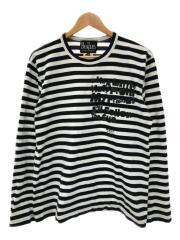 Beatles CdG L/S T-Shirt/長袖Tシャツ/XL/コットン/ブラック/ボーダー