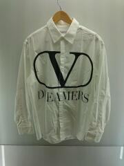 DREAMERS/ロゴプリントシャツ/40(L)/コットン/ホワイト/TV0ABA9569U