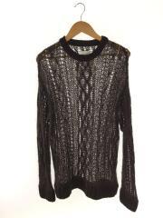 crew neck aran sweater/セーター(厚手)/52/ウール/BRW/無地/0008aAW20/