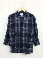 Size:2/7分袖シャツ/LINEN CHECK Q/S SHIRTS/15533006/リネン/チェック