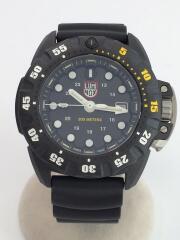 scott cassell deep dive carbon 1555/クォーツ腕時計/アナログ/ラバー