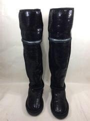 SIZE:24cm/ロングブーツ/BLK/スパンコール