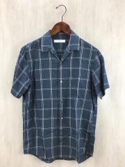 Size:M/開襟シャツ/半袖シャツ/18-051-300-5050-1-0/コットン/NVY