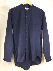 Size:1/長袖シャツ/バンドカラー/107300010/ポリエステル/NVY