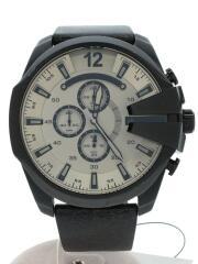 クォーツ腕時計/DZ-4422/アナログ/レザー/BEG/BLK