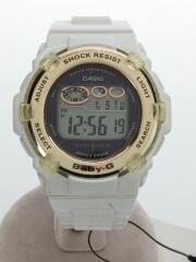 腕時計・Baby-G/デジタル/ラバー/WHT/WHT