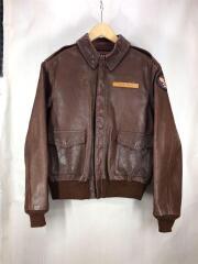 フライトジャケット/40/ROUGH WEAR CLOTHING CO/30-1415/レザー/BRW