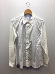 18SS/DOUBLE LAYERED SHIRT/ストライプレイヤードシャツ/3/ホワイト/UE-180022