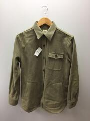 ウールCPOシャツ/ミリタリーシャツ/M/エルボーパッチ/ピスタチオグリーン/14F-BB227