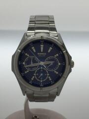 ソーラー腕時計/ブルー/箱コマ説明書有/AGAD033/V14J-0AS0