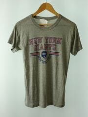 80s/トリコタグカット有/霜降りプリントTシャツ/--/コットン/GRY/無地