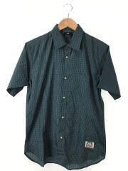 SS Tartan Shirt/半袖シャツ/M/コットン/GRN/チェック