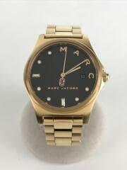 クォーツ腕時計/アナログ/--/BLK/GLD/MJ3600