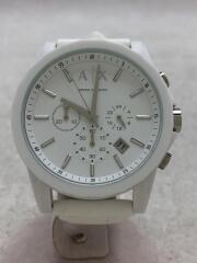 腕時計/アナログ/ラバー/WHT/WHT/AX1325