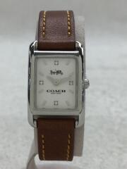 腕時計/アナログ/--/WHT/BRW