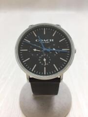 クォーツ腕時計/アナログ/レザー/BLK/BRW/ヴァリック/14602392