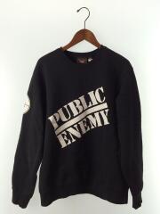 Public Enemy Crewneck Sweatshirt/18SS/スウェット/M/コットン/BLK