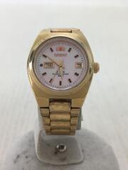 自動巻腕時計/アナログ/ステンレス/PNK/GLD