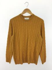 カシミヤ30%混/クルーネックセーター(薄手)/M/ウール/ORN/3213-105-1151