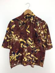 半袖シャツ/M/ポリエステル/BRD/総柄/開襟/オープンカラー