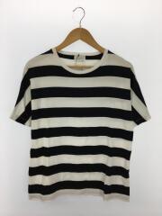 Tシャツ/38/コットン/WHT/ボーダー