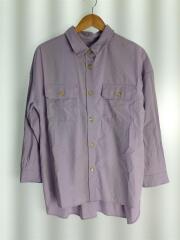 CPOシャツ/長袖シャツ/FREE/コットン/PUP/無地/3611-105-1537