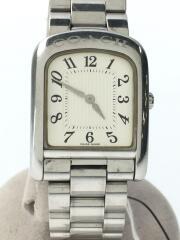 クォーツ腕時計/W522A/アナログ/ステンレス/ホワイト/シルバー