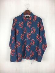 18AW/Cut-Off Bottom One-up Shirt Wool Twill/DI048/長袖シャツ/M/