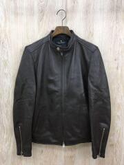 シングルライダースジャケット/M/羊革/BRW/BA71LO0099CR