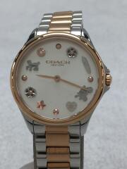 クォーツ腕時計/アナログ/ステンレス/SLV/GLD/CA.121.7.20.1561/14503065