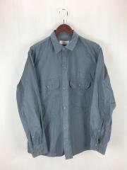 ワークシャツ/長袖シャツ/48/コットン/BLU/0804